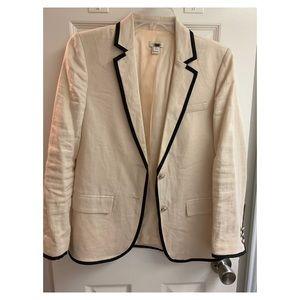 J.Crew cream schoolboy blazer. Size 2P.